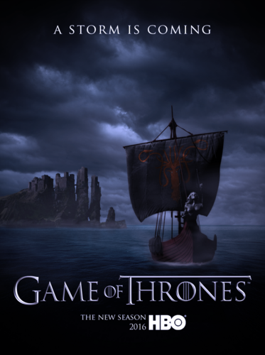 Game of Thrones wallpaper probably with a sign entitled Game of Thrones Season 6 Poster - House Greyjoy