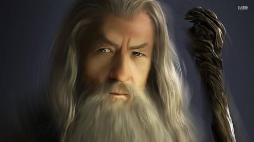 द लॉर्ड ऑफ द रिंग्स वॉलपेपर entitled Gandalf