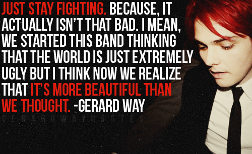 Gerard Way wallpaper probably containing a business suit and anime entitled Gerard Way Quotes