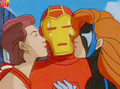 Girls kiss Iron Man - marvel-comics photo