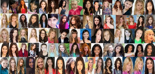 Disney Channel Girls fond d'écran titled Girls of Disney Collage
