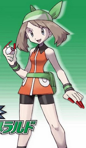 Haruka (May in the US) of Pocket Monsters (Pokemon). ポケットモンスターの少女ハルカ