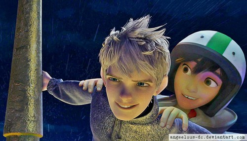 disney crossover achtergrond titled Hiro/Jack Frost