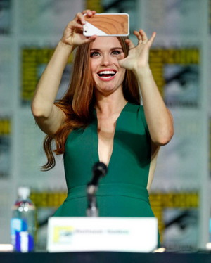 Holland Roden during the MTV Teen волк panel at SDCC.
