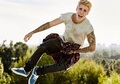 In the air... - justin-bieber photo