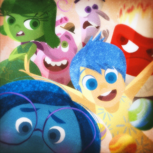 Out disney joy sadness disgust fear anger pixar 2015 animated film
