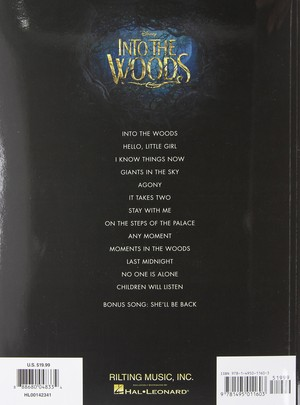 Into the Woods sheet book