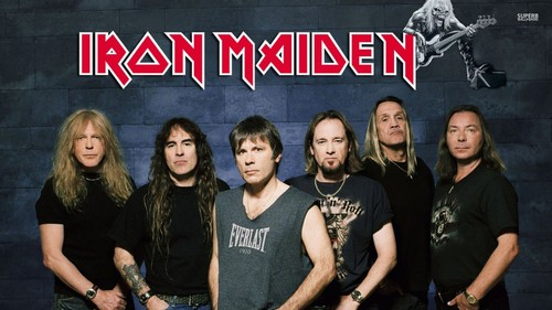 Iron Maiden wallpaper probably with a sign titled Iron Maiden