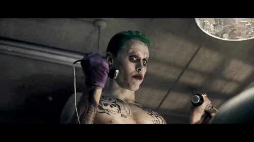 The Joker kertas dinding containing a sign called Jared Leto as The Joker in the First Trailer for 'Suicide Squad'