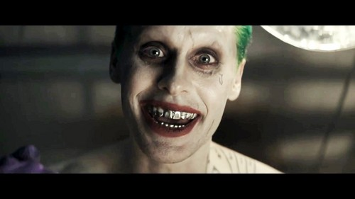 小丑 壁纸 probably with a portrait called Jared Leto as The Joker in the First Trailer for 'Suicide Squad'