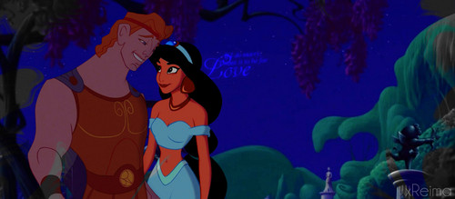 disney crossover wallpaper probably containing animê titled jasmim and Hercules