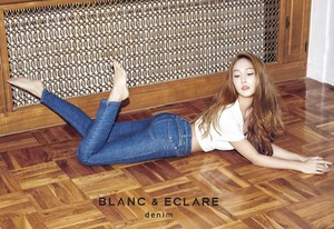 Jessica Jung Poses with Her New Denim Line for blanc