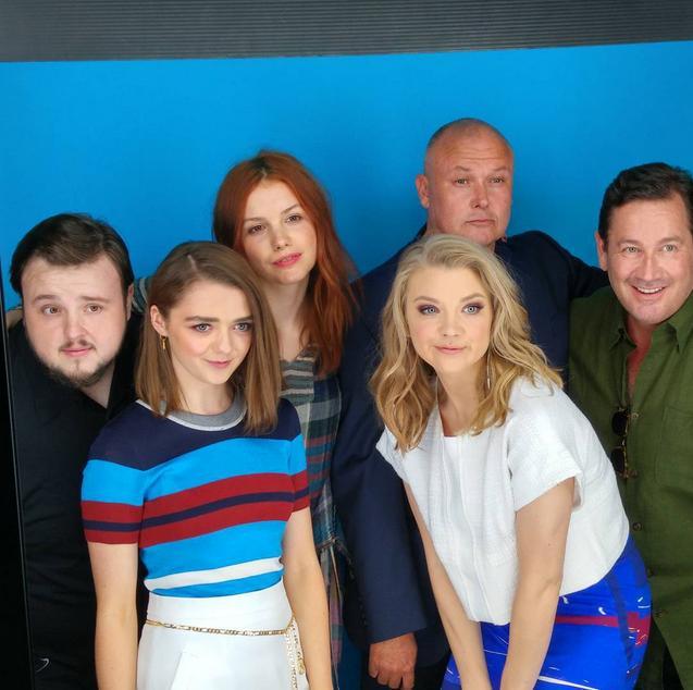John Bradley, Maisie Williams, Hannah Murray, Conleth Hill and Natalie Dormer