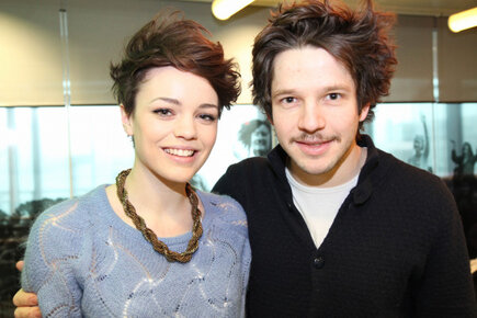 Kate Bracken wallpaper containing a portrait titled Kate Bracken and Damien Molony