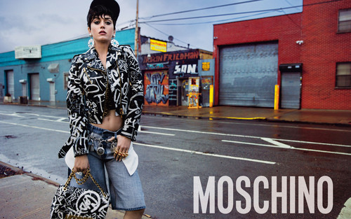 katy perry wallpaper containing a rua called Katy Perry for Moschino