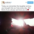 Lea's tweet about Cory memorial | 2 Years Without Cory - glee photo