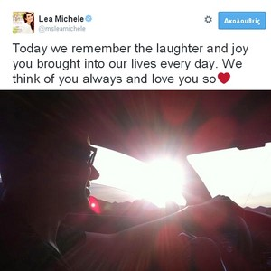 Lea's tweet about Cory memorial | 2 Years Without Cory