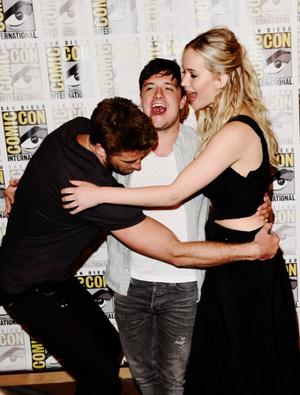 Liam,Josh and Jennifer Comic Con 2015