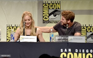 Liam and Jennifer Lawrence at Comic Con