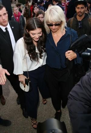 Lorde at the Chloe Paris Fashion Show