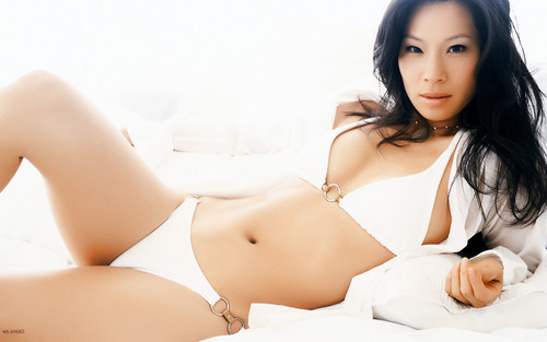 루시 루 바탕화면 containing a bikini titled Lucy Liu