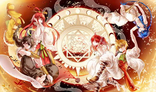 Magi The Labyrinth Of Magic Wallpaper Probably Containing A Bouquet Entitled