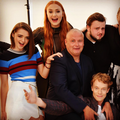 Maisie Williams, Sophie Turner, Conleth Hill, John Bradley and Alfie Allen