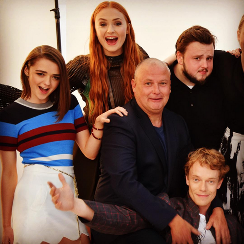 Game of Thrones wallpaper probably with a portrait entitled Maisie Williams, Sophie Turner, Conleth Hill, John Bradley and Alfie Allen
