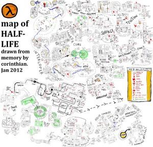 Map of Half-Life