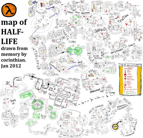 Half Life wallpaper possibly with a newspaper entitled Map of Half-Life