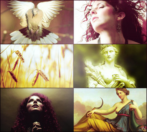 Metal celebrities as Greek gods/godesses.