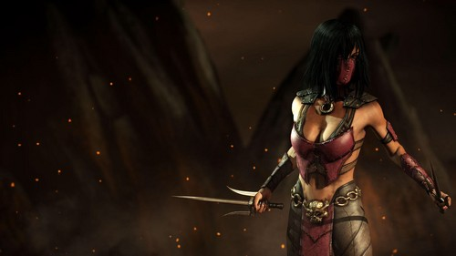 Mortal Kombat wallpaper possibly containing a breastplate and a brigandine called Mileena: Former Empress/Kahnum of Outworld