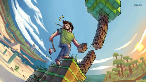 Minecraft پیپر وال probably containing عملی حکمت entitled Minecraft