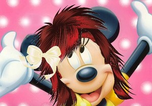 Minnie ماؤس with Red Hair