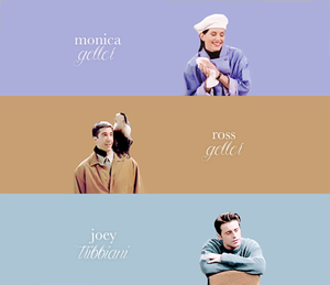 Monica, Ross and Joey