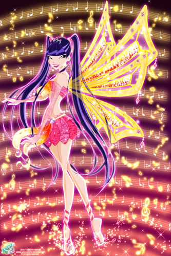 The Winx Club پیپر وال titled Musa Enchantix