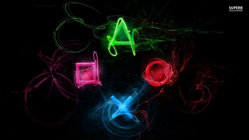 Video Games wallpaper entitled Neon Playstation