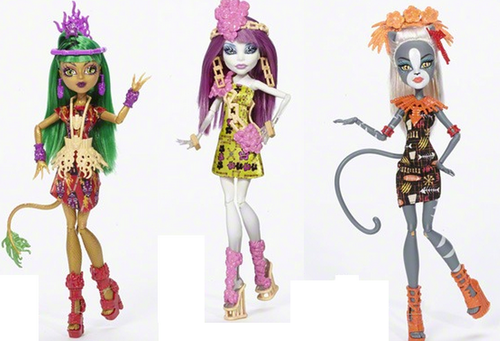 Monster High karatasi la kupamba ukuta entitled New Dolls 2016 Ghoul's Getaway