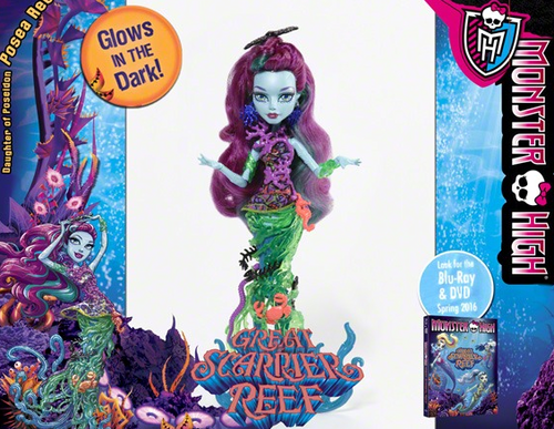 Monster High fond d'écran containing animé titled New poupées 2016 Posea récif