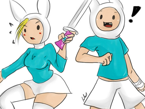 Adventure Time With Finn and Jake wallpaper with anime called Nice sword there