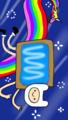 Nyan Finn and Rainicorn - adventure-time-with-finn-and-jake fan art