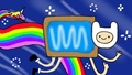 Nyan Finn and Rainicorn - nyan-cat photo