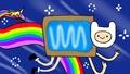 Nyan Finn and Rainicorn - nyan-cat photo