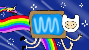 Nyan Finn and Rainicorn