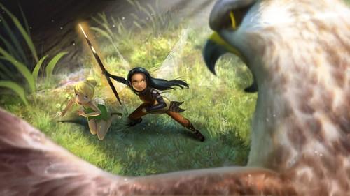 Disney Elfen Filme Hintergrund possibly with a cockateel titled Nyx