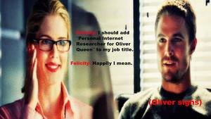Oliver and Felicity वॉलपेपर