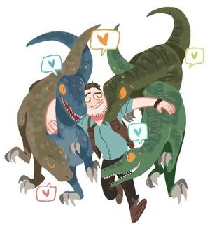 Owen and his Velociraptors