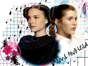 Padme and Leia