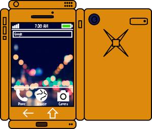 Papercraft jeruk, orange Phone 2