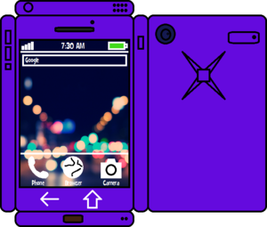 Papercraft Purple Phone 2